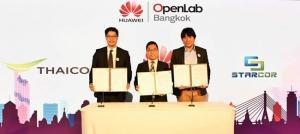 Thaicom, Huawei and Starcor sign MOU for the development of OTT broadcasting service in Thailand