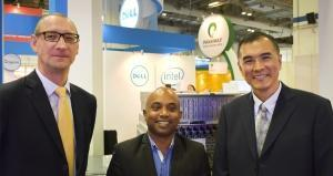 From left to right: Erwin Meyer, General Manager, OEM Solutions, Asia Pacific & Japan; Arul Dharmalingham, NFV Practice Lead, OEM Solutions, Dell, Asia Pacific; David Lin, Business Development Director, OEM Solutions Photo: Zane Small