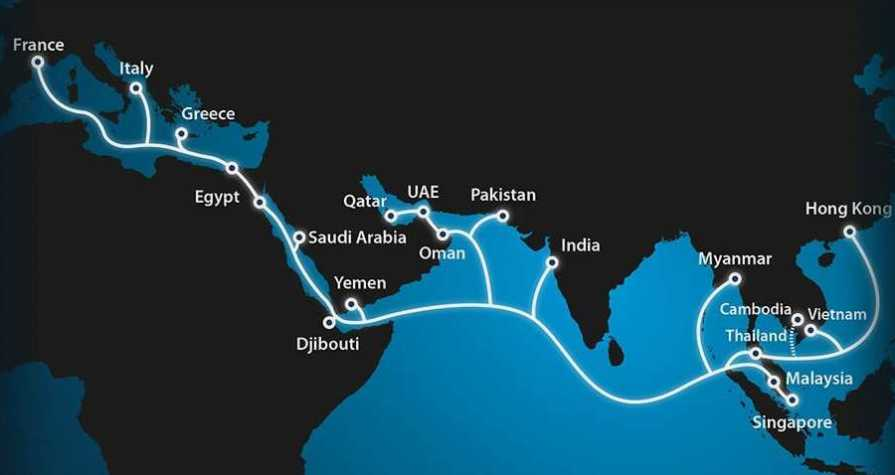 Asia-Africa-Europe-1 (AAE-1) submarine cable system goes live