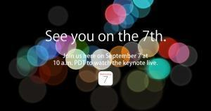Apple confirms iPhone 7 release: Wednesday, September 7
