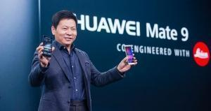 Richard Yu unveils the Huawei Mate 9 in Munich, Germany