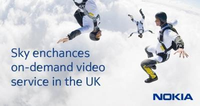 Sky deploys Nokia's Velocix Content Delivery Network to enhance high-speed video