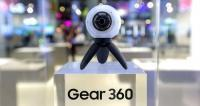 The Gear 360 camera 'takes pictures that are out of this world,' says Samsung