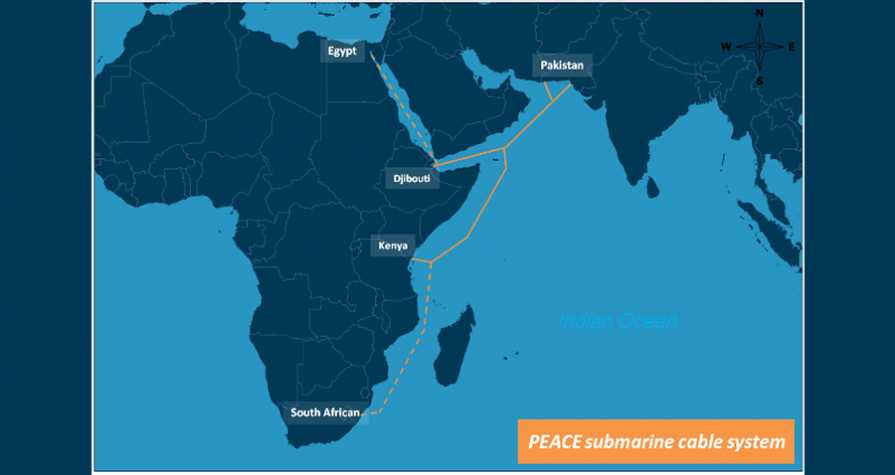 PEACE submarine cable to connect South Asia with East Africa