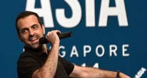 Hugo Barra, Xiaomi's global vice-president, speaking at the Startup Asia technology conference in Singapore. AFP PHOTO / ROSLAN RAHMAN