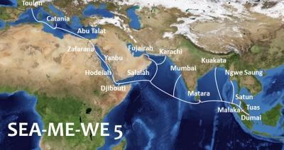 SEA-ME-WE 5 subsea cable is complete – developed by a 16-nation consortium