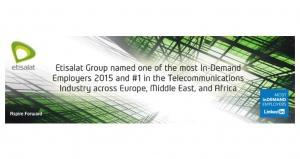 Etisalat features in EMEA's Top 100 Most InDemand Employers List